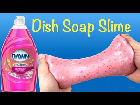How To Make Dish Soap Glitter Slime!! DIY Slime Without Borax,Shaving Foam,Liquid Starch and Shampoo
