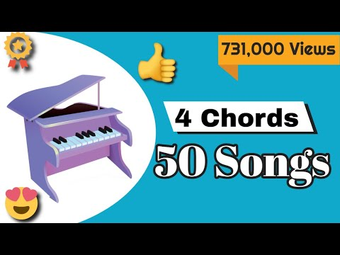 Piano Lessons - 50 songs on Piano with just 4 chords - Mashup