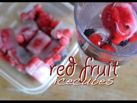 How to make red fruit ice cubes! Recipe for ice cold red fruit ice cubes
