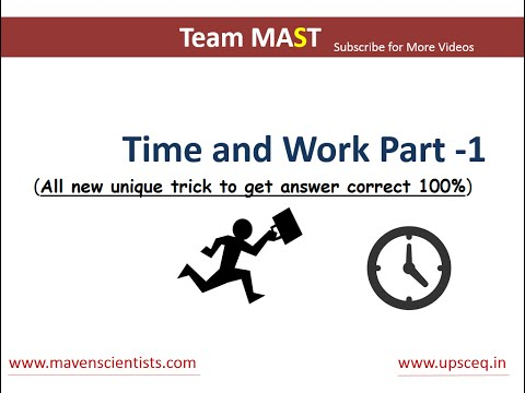Time and Work problems shortcuts and tricks (Part - 1) | Team MAST