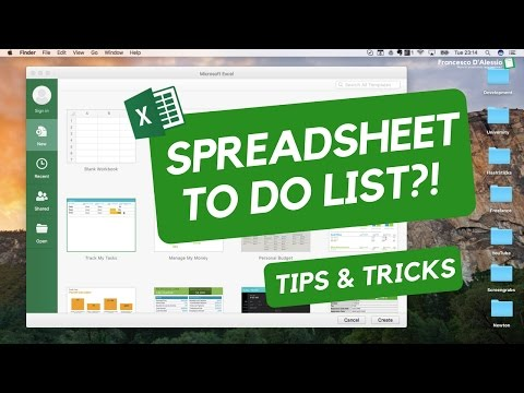 SPREADSHEETS TODO LIST!? 🤔 ☑