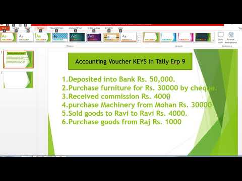 accounting voucher keys in tally