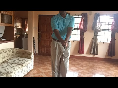 Top of the backswing in golf