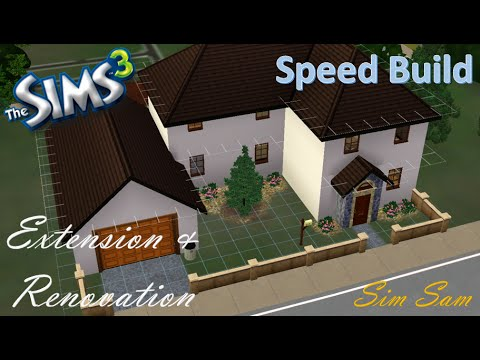 Sims 3 Speed Build - Home Extension & Renovation l Simsam
