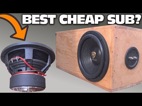 CHEAP $100 Subwoofer TEST w/ 12