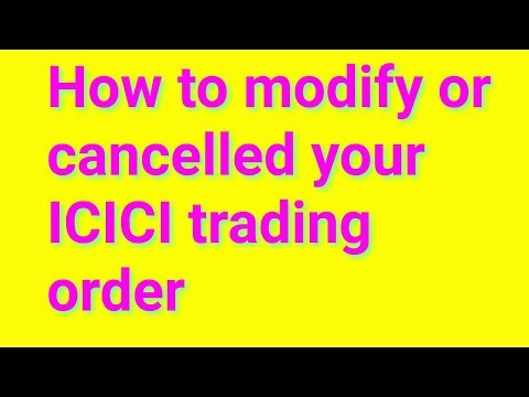 icici direct-how to cancel order