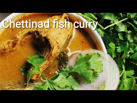 Chettinad style fish curry with freshly grinded masala - Fish curry - Fish kulambu