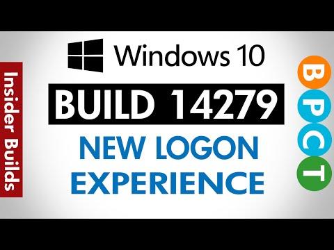Windows 10 Build 14279- New Logon Screen