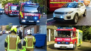 APARTMENT FIRE! - Fire Engines, Trucks & UNMARKED RANGE ROVER Responding!