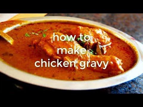 Homemade spicy gravy restaurant style chicken curry salad At Home how to make chicken gravy in hindi