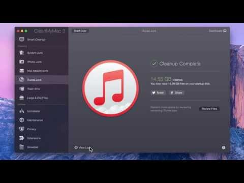 CleanMyMac 3 | How To Clean Up iTunes Junk