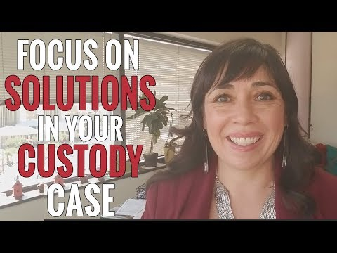 Focus on Solutions NOT Problems From the Past In Your Custody Case