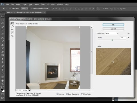 Photoshop CS6 New Features - Adaptive Wide Angle Filter Tutorial