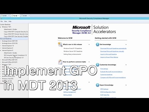 Deploying Local Group Policies with MDT 2013 Update 2