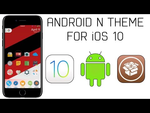 Ultimate iPhone Android Theme on iOS 10! (Jailbreak Required)