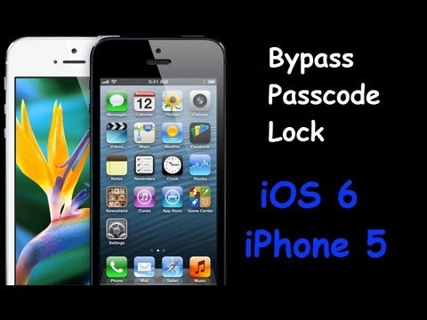 Bypass iOS 6 and iPhone 5 Passcode Lock