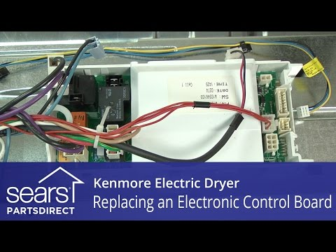 How to Replace a Kenmore Electric Dryer Electronic Control Board
