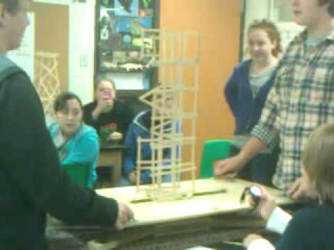 Popsicle stick structure Earthquake project