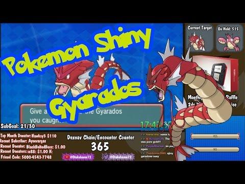 FLOYT Live Shiny Gyarados 365 Dexnav - Pokemon Omega Ruby & Alpha Sapphire