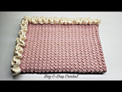 How To Crochet The Lil' Blossom Baby Blanket Crochet Tutorial #481