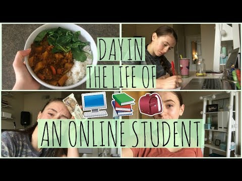 A Day in the Life of an ONLINE STUDENT