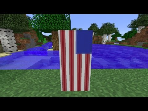 How to make the National Flag of Liberia [LBR]//Minecraft