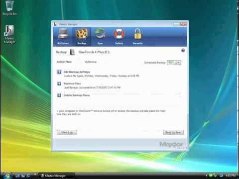 OT4 Deleting a Backup Plan for Windows Vista
