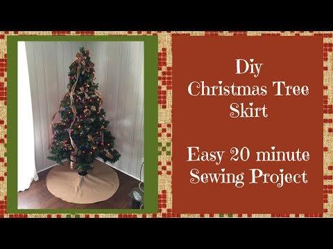 DIY  Tree Skirt Beginner Sewing