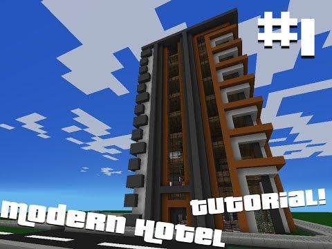 Minecraft Pocket Edition: Modern Hotel Tutorial (Part 1)