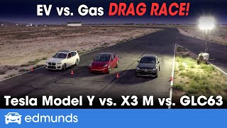 Drag Race! Tesla Model Y vs. BMW X3 M vs. Mercedes-Benz AMG GLC 63 ― Best Luxury Compact SUVs