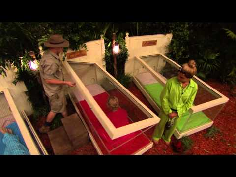 The Celebrities Get Into Their New Beds For The Night - I'm A Celebrity Get Me Out Of Here