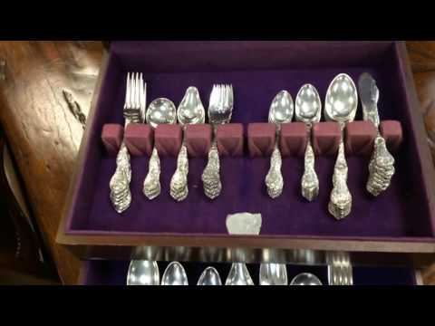 Cinq Fleurs Sterling Silver 108 Pc Twelve 9 Piece Place Settings Reed & Barton