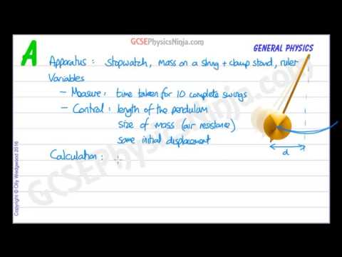 How to Measure the Time Period of a Pendulum - GCSE Physics
