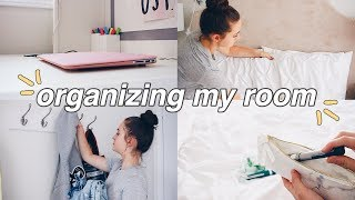 Organize My Room w/ Me!! // Organization Tips