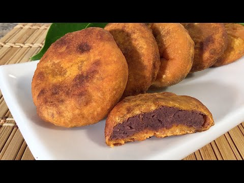 How To Make Red Bean Paste Persimmon Cakes-Asian Food recipes
