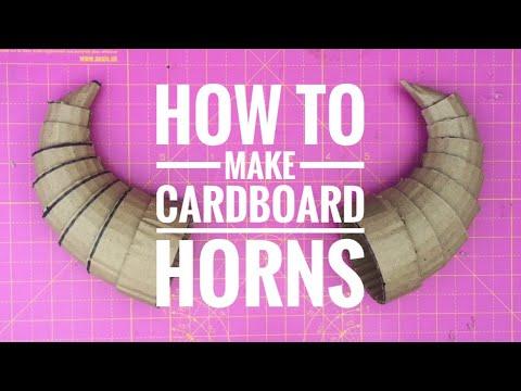 How To Make Cardboard Horns