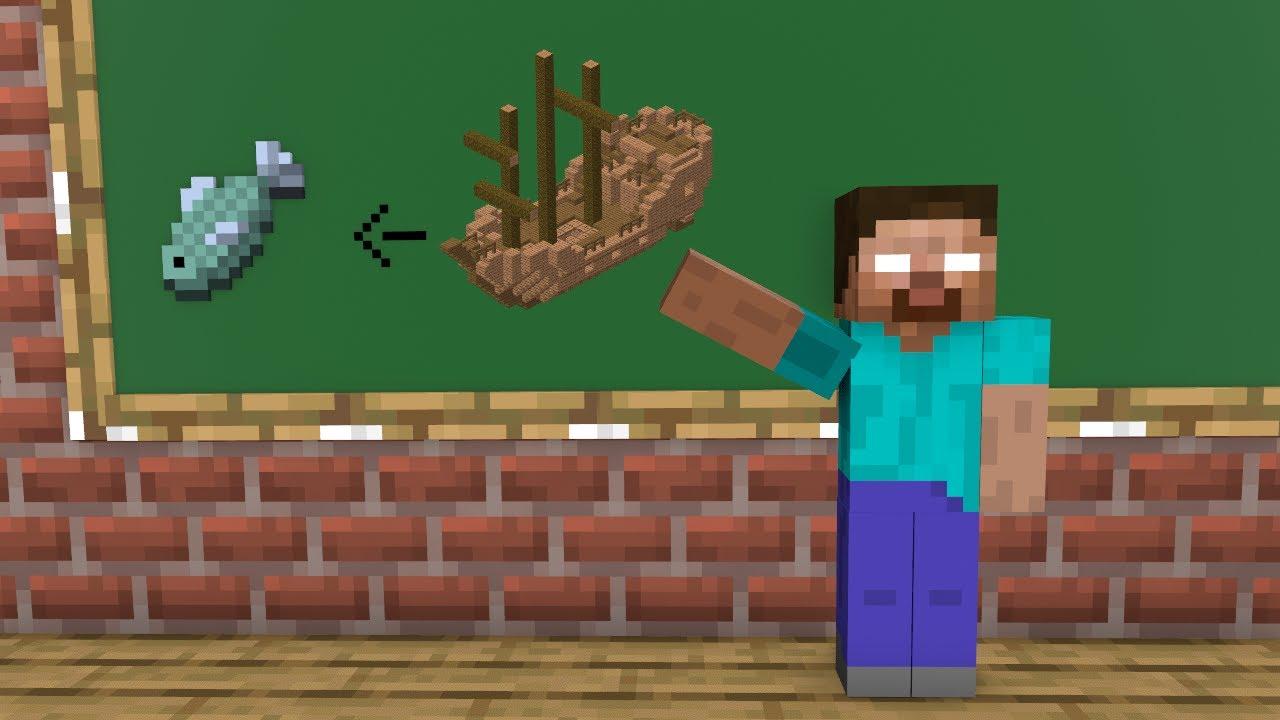 Monster School : Fishing Boat - Funny Minecraft Animation