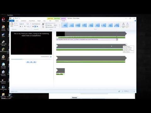How To Make Lyric Videos On Windows Movie Maker