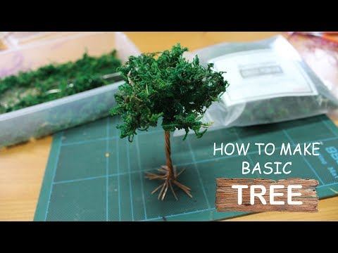 Diorama Tutorial - How to Make Basic Tree