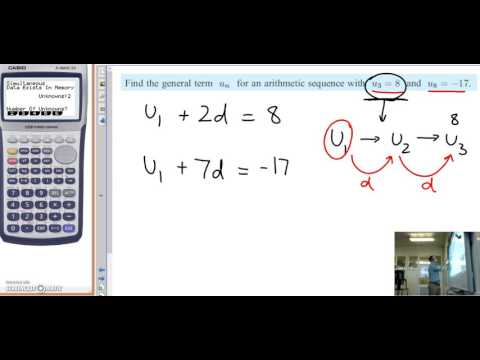 Arithmetic Sequences with a calculator
