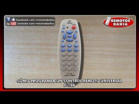 CÓMO PROGRAMAR CONFIGURAR UN CONTROL REMOTO UNIVERSAL F-188 JANESONG