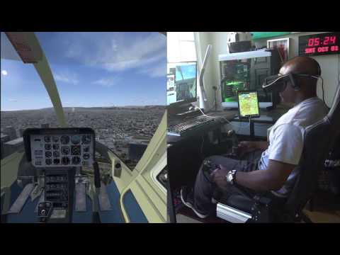 Home Helicopter Flight Simulator Using Virtual Reality Headset