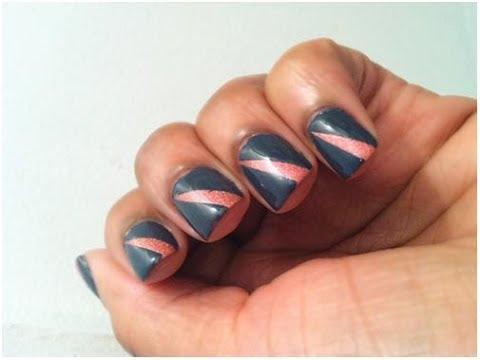 Easy Nail Designs with Tape that Chic