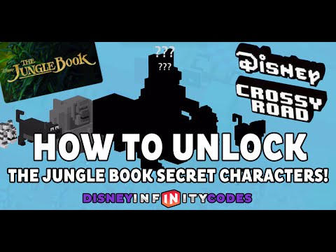 How To Unlock The Jungle Book Secret Characters In Disney Crossy Road!