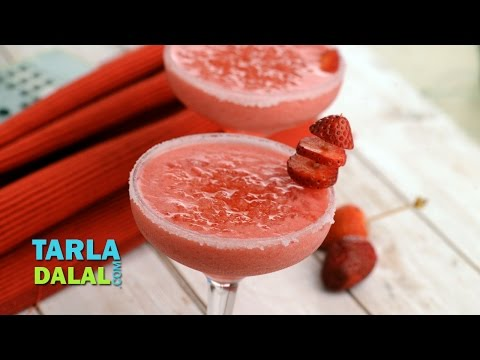 स्ट्रॉबेरी मार्गरिटा (Strawberry Margarita) by Tarla Dalal