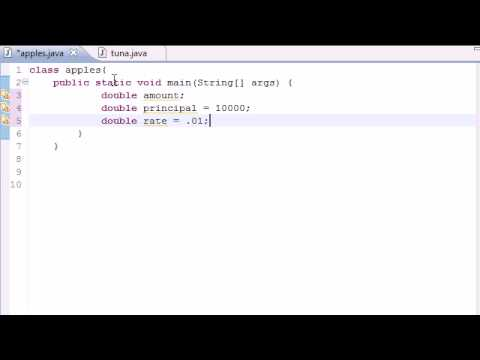 Java Programming Tutorial - 23 - Compound Interest Program
