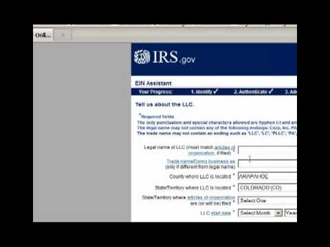 How to Get an Employer Tax ID on the IRS Website - Form SS4 - President Barack Obama