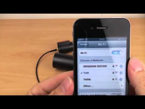 BlackVue DR550GW-2CH WiFi dashcam first turn on and WiFi setup