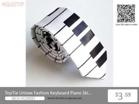 TopTie Unisex Fashion Keyboard Piano Skinny Necktie Tie from Opentip.com