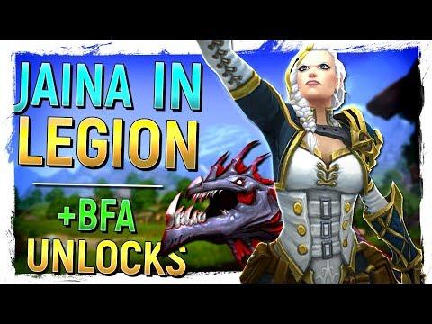 JAINA IN LEGION, Surprise Revamp, SECRET MOUNT & Allied Race / Flying Unlocks | Battle for Azeroth